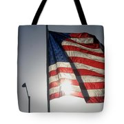 Half Mast Flag Honoring President Ronald Reagan Number 2 Casa Grande Arizona June 2004 Tote Bag