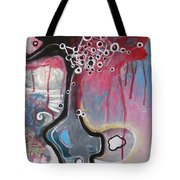 Half Moon On Vase Tote Bag