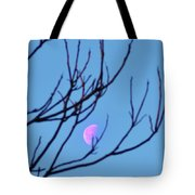 Half Moon Through The Trees Tote Bag