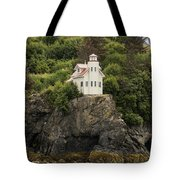 Halibut Cove Lighthouse Tote Bag