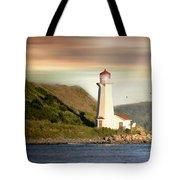 Halifax Harbor Lighthouse Tote Bag