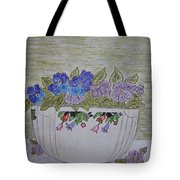 Hall China Crocus Bowl With Violets Tote Bag