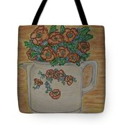 Hall China Orange Poppy And Poppies Tote Bag