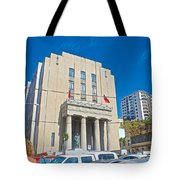 Hall Of Justice In Valparaiso-chile  Tote Bag