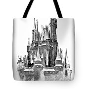 Hall Of The Snow King Monochrome Tote Bag