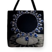 Hall Sapphire And Diamond Necklace Tote Bag
