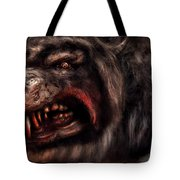 Halloween -  Mad Dog Tote Bag by Mike Savad