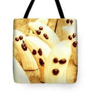 Halloween Banana Ghosts Tote Bag