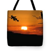 Halloween Eve She Rides Tote Bag