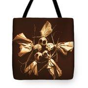 Halloween Horror Dolls On Dark Background Tote Bag