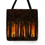 Halloween Horror Zombie Rampage Tote Bag