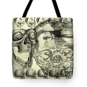 Halloween In Grunge Style Tote Bag