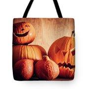 Halloween Pumpkins, Carved Jack-o-lantern. Tote Bag