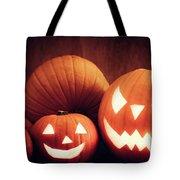 Halloween Pumpkins Glowing, Jack-o-lantern Tote Bag