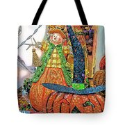 Halloween Scarecrow And Pumpkin Pa 02 Vertical Tote Bag