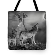 Halloween - Spirits Of The Wolf Tote Bag