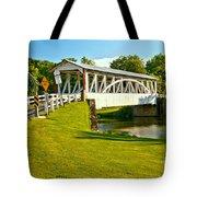 Halls Mill Covered Bridge Landscape Tote Bag