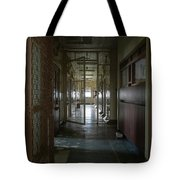 Hallway With Solitary Confinement Cells In Prison Hospital Tote Bag