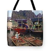 Halong Bay Harbor Scene Tote Bag