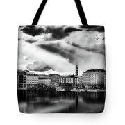 Hamburg At Sunset Tote Bag