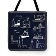Hamburg In Miniature Tote Bag