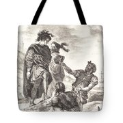 Hamlet And Horatio Before The Gravediggers (act V, Scene I) Tote Bag
