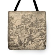 Hamlet On A Mountain Side Tote Bag