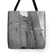 Hammond Castle Detail - Black And White Tote Bag