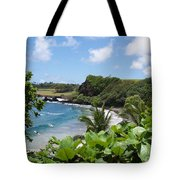 Hamoa Beach Tropical Hana Maui Hawaii Waves And Surfers Tote Bag