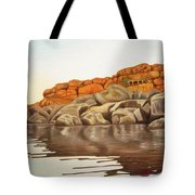 Hampi On Tungabadra Tote Bag