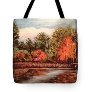 Hampton Ponds Fall Tote Bag