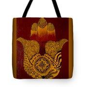 Hamsa- Brown Tote Bag