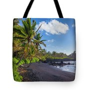 Hana Bay Palms Tote Bag by Inge Johnsson