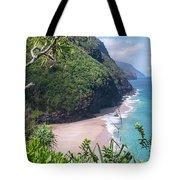 Hanakapiai Beach - Kalalau Trail - Kauai Hawaii Tote Bag