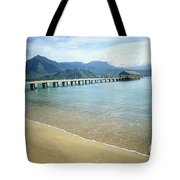 Hanalei Bay And Pier Tote Bag