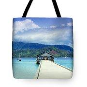 Hanalei Bay And Pier Tote Bag