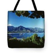 Hanalei Bay Boats Tote Bag
