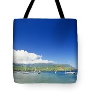 Hanalei Bay Coastline Tote Bag