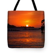 Hanalei Sunset Tote Bag by Mike  Dawson