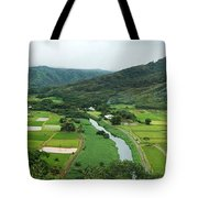 Hanalei Taro Fields Tote Bag