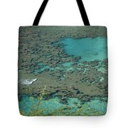 Hanauma Bay Reef And Snorkelers Tote Bag