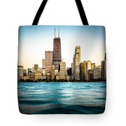 Hancock Building And Chicago Skyline Photo Tote Bag by Paul Velgos