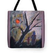 Hand In Hand Walk Under The Moon Tote Bag