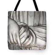 Hand And Robe Tote Bag