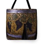 Hand Carved Wine Barrel Tote Bag