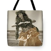Hand Colored Hula Tote Bag