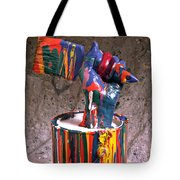 Hand Coming Out Of Paint Can Tote Bag