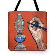 Hand Drawing Lamp Tote Bag