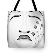 Hand On Face Mask B W Tote Bag