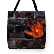 Hand On The Hole On The Wall Tote Bag